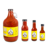Bottles of Chicaoji: 64, 12, 5, and 1.7 oz.