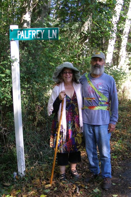 Annie and Randy Waugh on Palfrey Lane