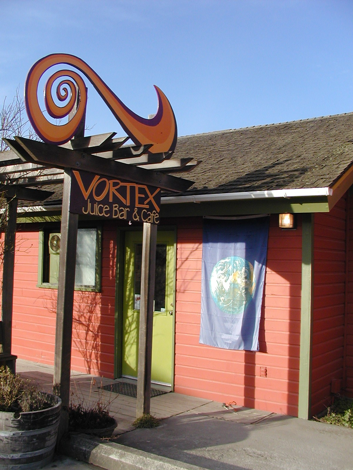 Vortex Juice Bar and Cafe on Lopez Island Washington